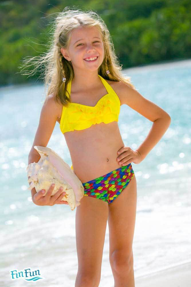 aacac40e1a Bikini Top Sea Wave Yellow - Schwimmshop Bär