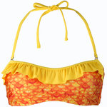 Tropical Sunrise Bandeau Bikini Top