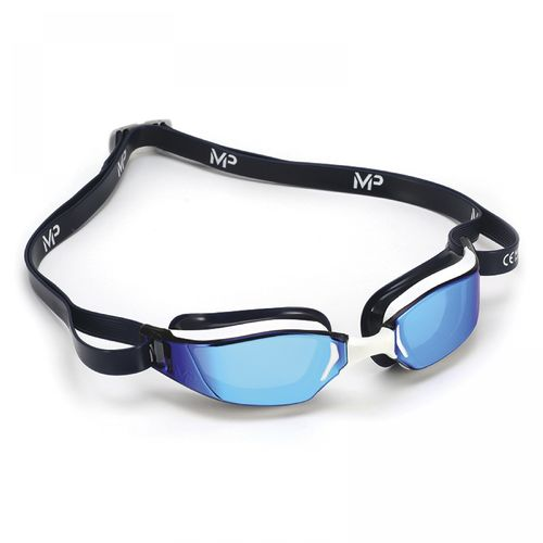 MP Michael Phelps XCEED Blue/Black Titanium Mirror Blue Lens