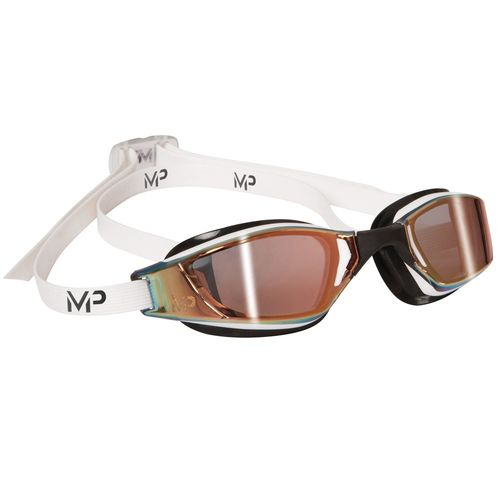 MP Michael Phelps XCEED White/Black Titanium Mirror Gold Lens